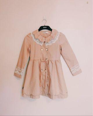 Pastel Pink Dress Coat