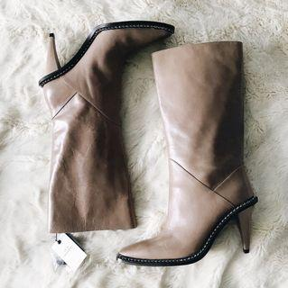Zara Leather Knee-high Boots