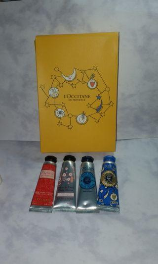 Loccitane  hand cream 10ml x 4  不散賣 包平郵