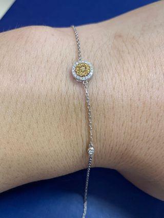 18k金鑽石💎手錬,簡約時尚👍🎁💫🌟 黃鑽0.083ct 白鑽0.156ct  $2880✨🌟💫