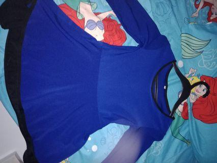 Dark blue Baju raya, mermiad