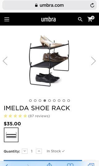 Umbra shoe rack