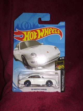 Hot Wheels 96' poeche carrera WHITE NIGHTBURNERZ