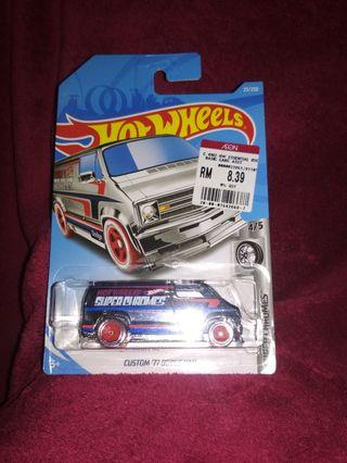 Hot Wheels custom 77 dodge van panelsuper chromes
