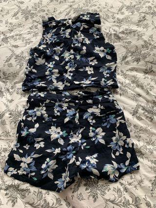 Floral shorts and top Co-ord
