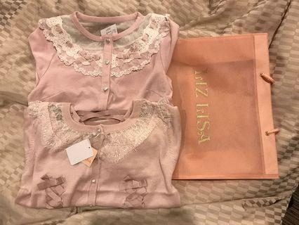 Liz Lisa japan 100% real pink lace cardigan