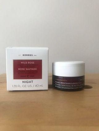 Korres Wild Rose Vitamin C Brightening Sleeping Facial