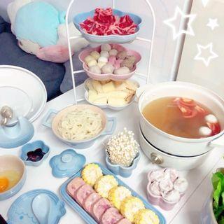 【最後2個售完不補】日本可摺三層架可放Le Creuset大花碟大心碟下午茶打邊爐蛋糕架甜品tea set架