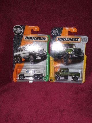 Matchbox Lot TRUCKS MERCEDES G63 AMG 6X6 + INTERNATIONAL® CXT