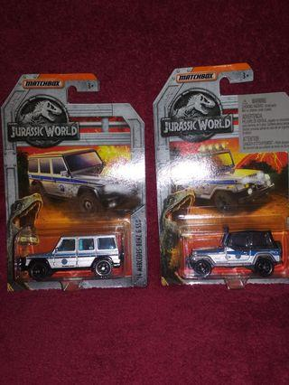 Matchbox Lot JURASSIC WORLD G550 MERCEDES BENZ + JEEP WRANGLER