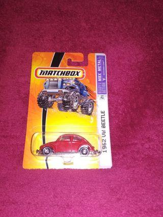 Matchbox 1962 VW VOLKSWAGEN BEETLE VHTF US CARD