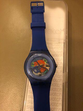 Swatch watch 深藍色手錶