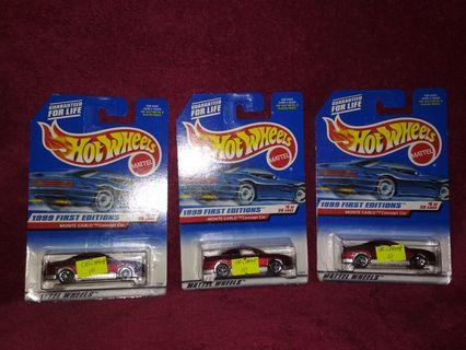 Hot Wheels chevy monte carlo concept car OB CHAMP OPEN BLISTER CONFIRM CHAMPION