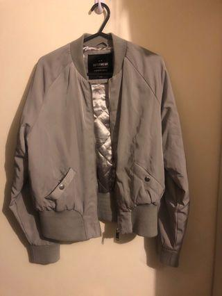 Bomber jacket grey silver