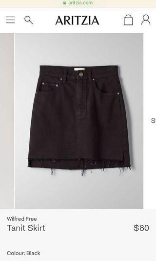 Wilfred Black Jean Skirt