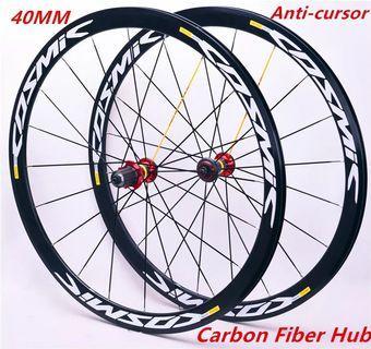 Mavic Cosmic road bicycle 40mm deep carbon fiber aluminum hubs rim set