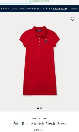 BNWT Ralph Lauren polo bear stretch mesh dress