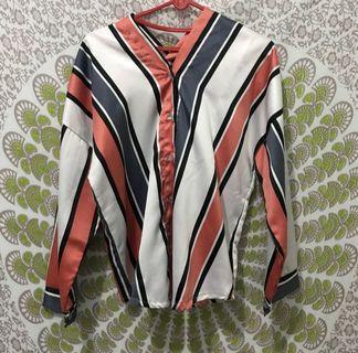 #mauvivo blouse stripe