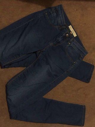Topshop Jamie w26 dark navy jeans