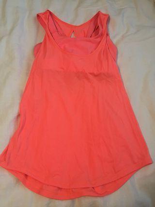 Lululemon Ready & Go Tank Size 4 Coral Pink