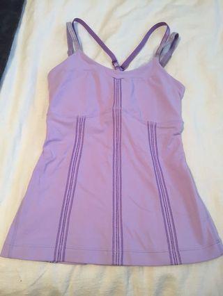 Lululemon Lilac Purple Double Strap Tank
