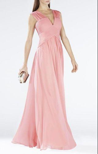 BCBG silk pleated gown size 2