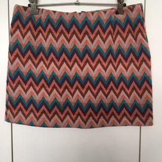Zig Zag Print Skirt