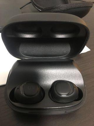 Uni world's most advance true wireless earbuds with qi charger