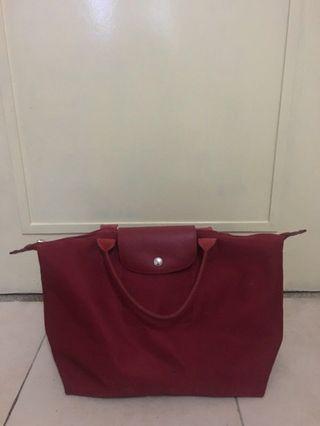 Longchamp Paris Original Canvas Handbag Medium