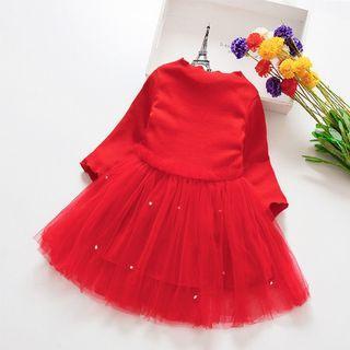 Dress anak import lengan panjang
