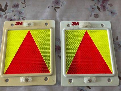 3M new driver probationary triangle plate
