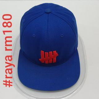 #RAYA180 UNDEFEATED Five Strike Snap-back Blue Red Cap