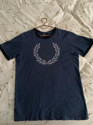 Authentic Fred Perry Blue T Shirt