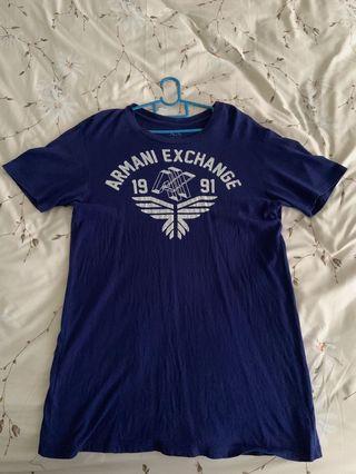 Purple Blue Armani Exchange Y Shirt