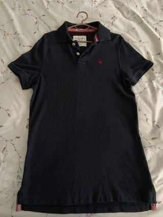 Authentic A&F Navy Blue Polo T Shirt