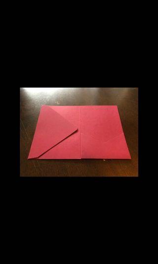 130 brand new burgundy invitation pockets!!