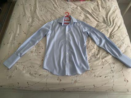 Almost Brand New T.M Lewin Blue Checkered Shirt