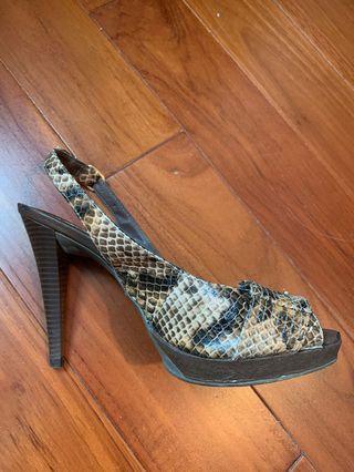Women's shoes animal print high heels