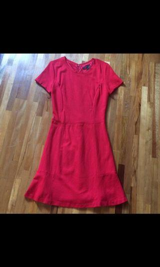 Nursing Red Dress - with zipper access for breastfeeding