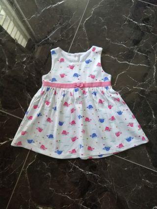 Baby Dress (cute whales theme)