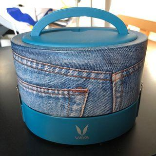 Vaya Tyffyn leakproof thermos food container system denim blue