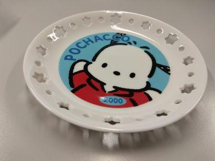 Sanrio Pochacco PC 狗 陶瓷碟 玻璃碟