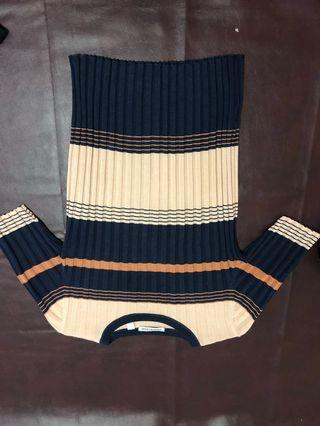 Country road stripe knit