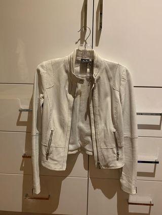 Armani Exchange White leather jacket