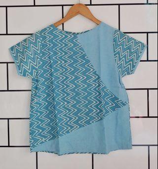 Blouse Batik (blue)