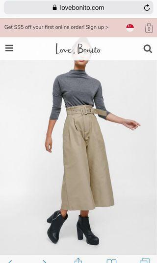 🚚 Love bonito Colea Belted Paperbag Culottes