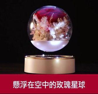 懸浮空中玫瑰星球音樂盒