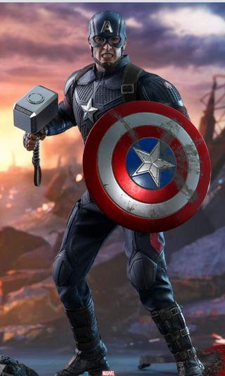 End Game訂單  Hottoys Mark 85 Captain America Thanos Black Widow Hawkeye Deluxe Version