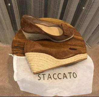 Staccato Shoes Wedges Suede