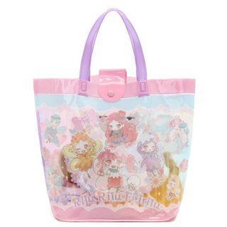 Sanrio Rilu Rilu Fairilu 花漾精靈 靚靚 PVC 塑膠料 手提 防水 沙灘包 食物袋 收納袋 (包平郵)